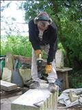 ...drilling stone by John Joekes, Sculpture