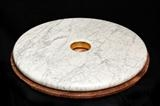 Circles of Power by John Joekes, Sculpture, Marble and Gold Leaf on Red Marble base