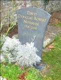 David Douglas Robert Norman Memorial by John Joekes, Sculpture, Welsh Slate with Gold Gilt Lettering