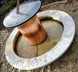 Memorial Sundial by John Joekes, Sculpture, Slate, Copper and Purbeck Cap