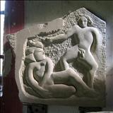 Relief (Lovers) by John Joekes, Sculpture, Limestone