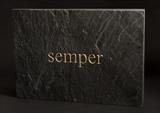 always / semper by John Joekes, Sculpture, Gold Leaf and Slate