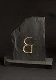 and / & by John Joekes, Sculpture, Slate and Gold Leaf